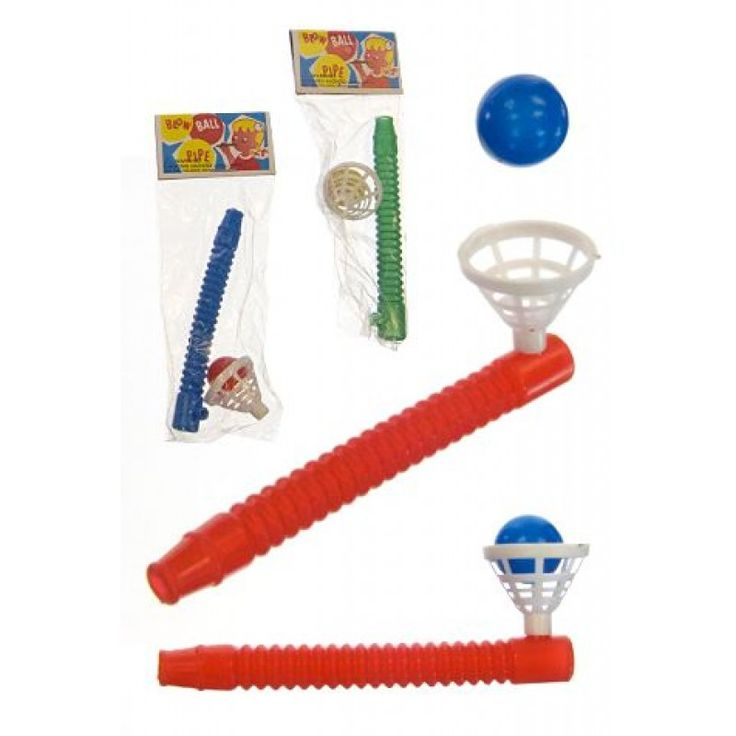 Blow Ball Pipe : Floating Game Classic Toy : Retro Stocking Stuffer : Cheap Toys