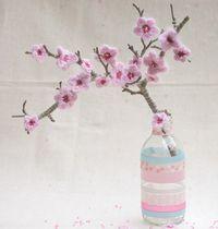 DIY: gehäkelter Kirschblütenbaum // crochet cherry blossom tree via blod.dawanda.com