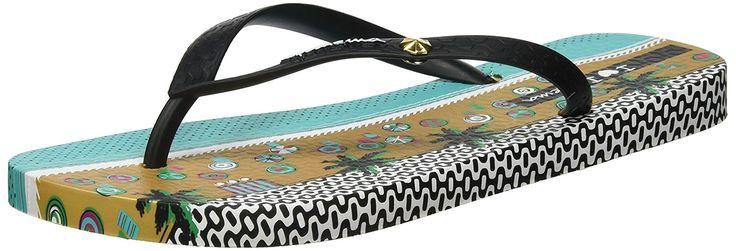 Ipanema Damen I Love Tribal Fem Zehentrenner, Mehrfarbig (Beige/Black), 35/36 EU: Amazon.de: Schuhe & Handtaschen