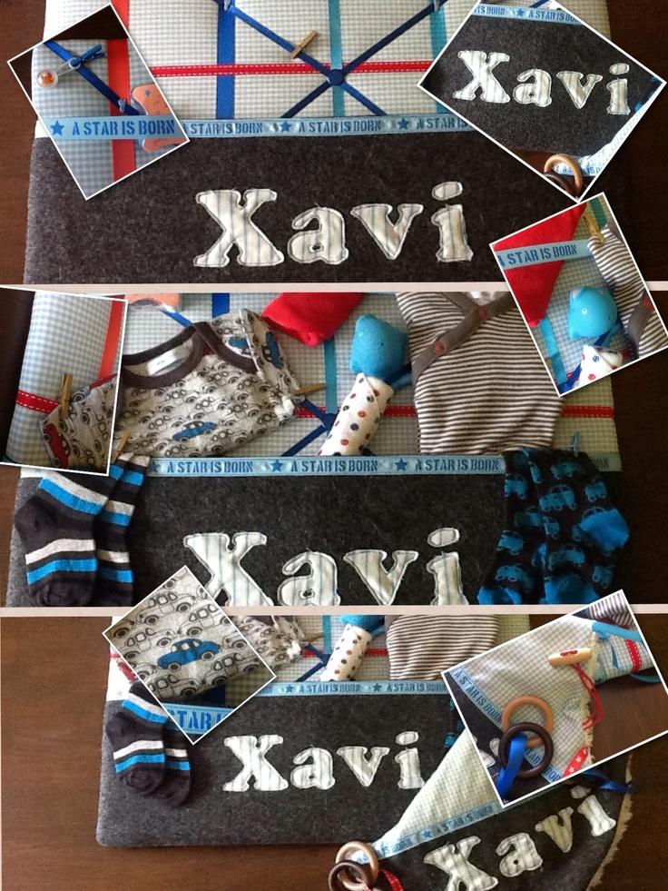 memobord kraampakket met speel/knuffeldoekje...voor Xavi