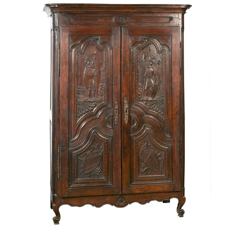 18th Century Spanish Provincial Armoire | From a unique collection of antique and modern wardrobes and armoires at https://www.1stdibs.com/furniture/storage-case-pieces/wardrobes-armoires/