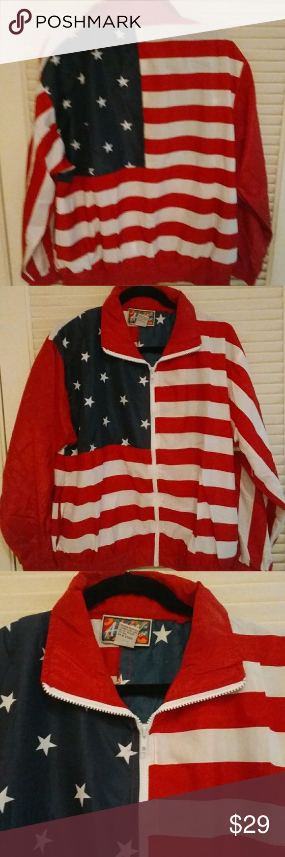 Presidents Day Sale!! New with tag fit small or Medium size flag jacket Jackets & Coats