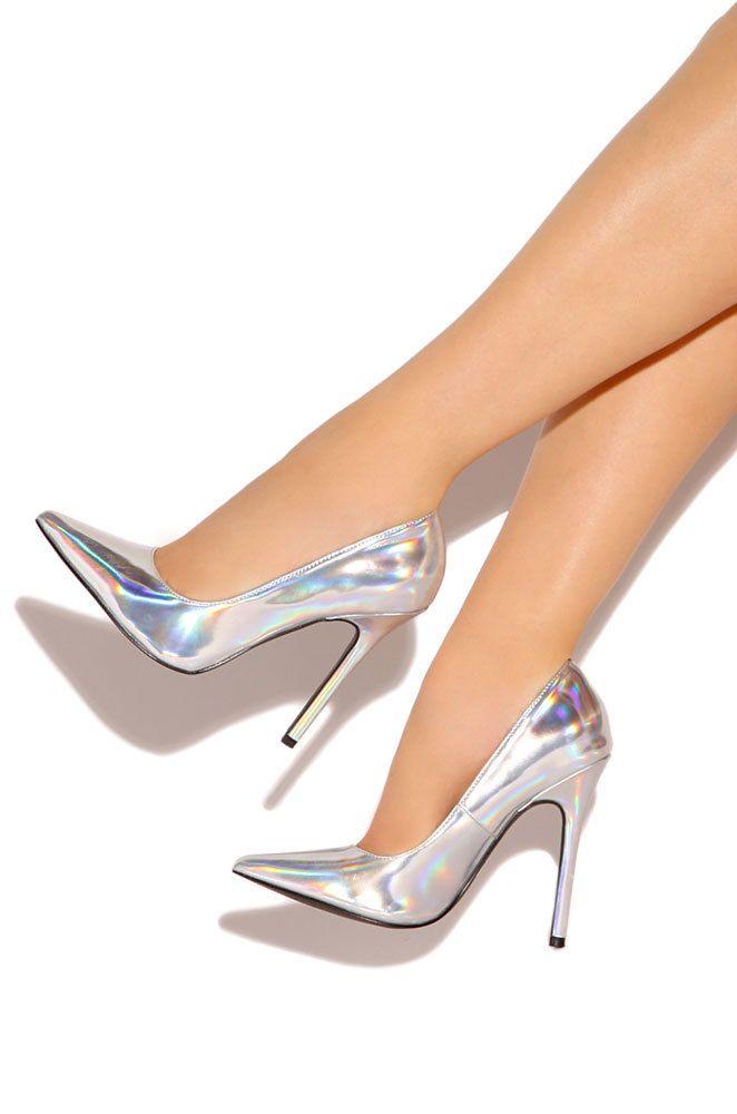 dd7329aa22cf Nice Silver Heels - Heels Zone