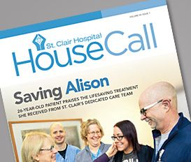 HouseCall is a quarterly newsletter done for St. Clair Hospital. To see the full issue, go to http://issuu.com/dymun/docs/st._clair_hospital_housecall_vol_vi_3cbb29f113b4f8