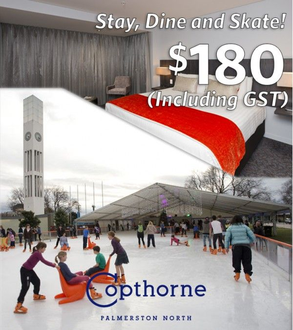 A special deal for April 2017 - enjoy the winter wonderland pop up rink in the square of Palmerston North while staying @ the Copthorne!