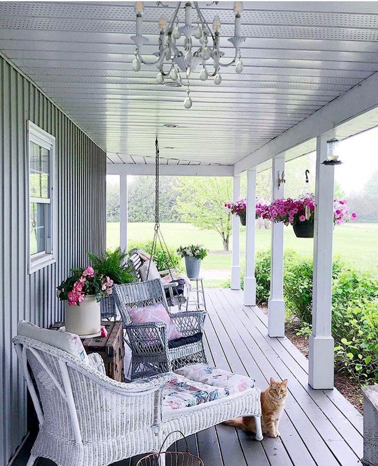 Покраска внутри веранды дома фото обстановку