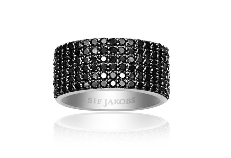 Corte ring with black zirconia stones. Find your nearest store at www.sifjakobs.com