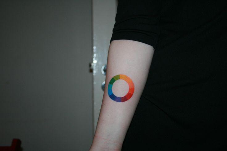"""fuckyeahtattoos: """" My color wheel tattoo. Artist/Gunnar at Íslenska Húðflúrstofan, Reykjavík Iceland. """""""