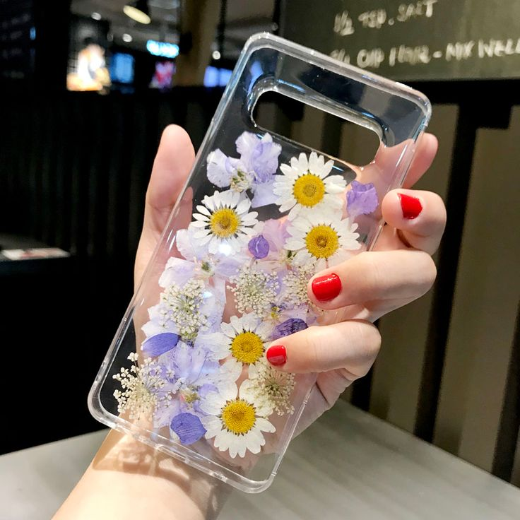 Dried Real Flowers Handmade Clear Pressed Phone Case For
