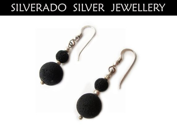 Sterling Silver 925 And Natural Black Lava by SilveradoJewellery, €19.00