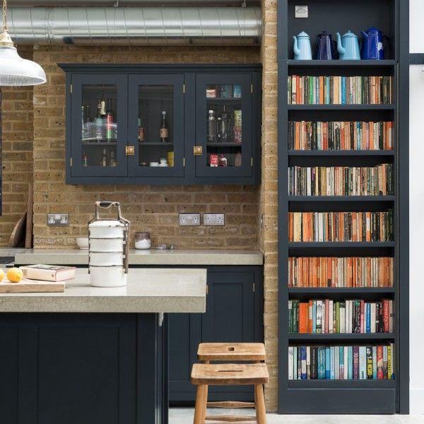 Bookcases in kitchen/diner