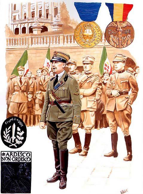 Gabriele D'Annunzio in Fiume, late 1919