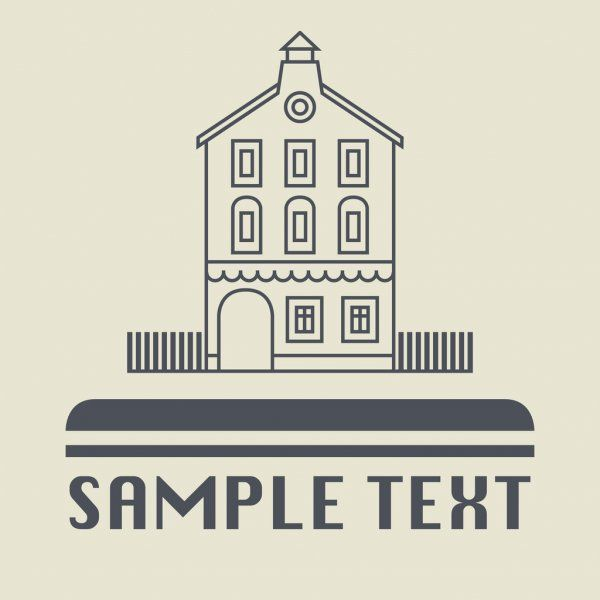 Vintage House Icon Or Sign Stock Vector Ad Icon House Vintage Vector Ad In 2020 Home Icon Vintage House Icon