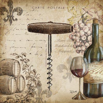 RB4803TS <br> Wine Cork Postcard I <br> 12x12
