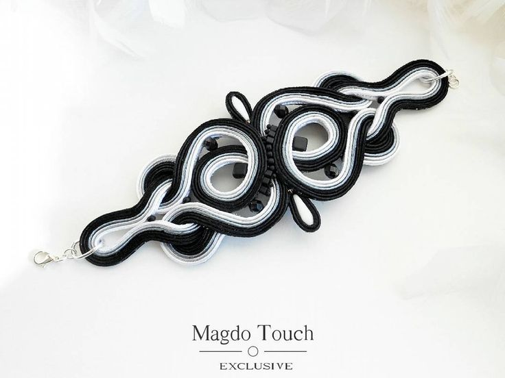 #fashion #instafashion #soutache #bracelet #details #perfect #elegant #modern #contemporary #accessories #for #her #lifestyle #womansfashion #readytowear #style #stylish #musthave #black #white #symetry #winter #winterfashion #nyc #la #etsy #etsyshop #magdotouch