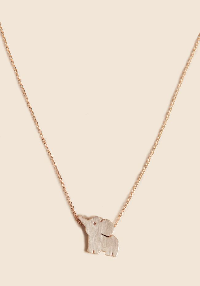 Perfect Little Pachyderm Necklace at #elephant @Ruche
