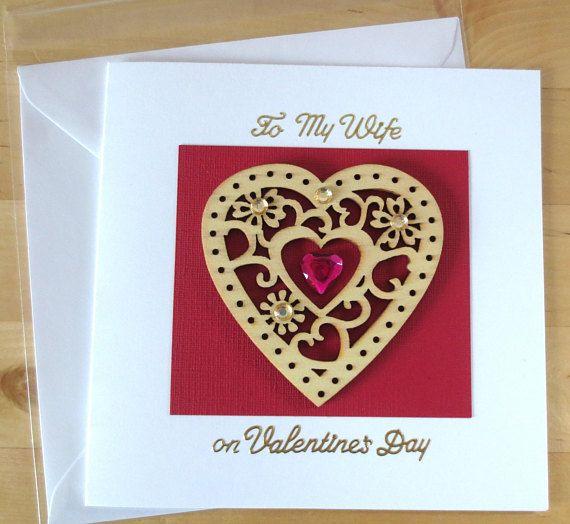 Valentine card wife Valentine card husband Valentine's