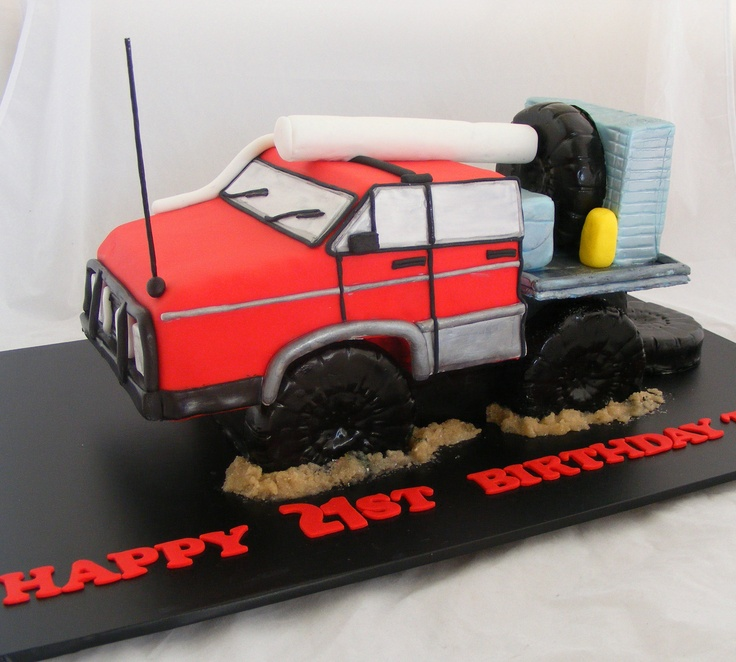 3D Truck Cake  This cake is a replica of the birthday boy's real truck. by My Cake Place http://www.mycakeplace.com.au/ https://www.facebook.com/MyCakePlace