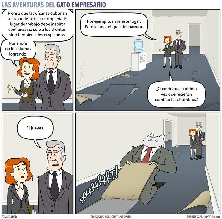 Business Cat - Alfombra