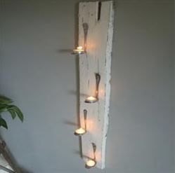 -home recycling projects-spoon candle feature