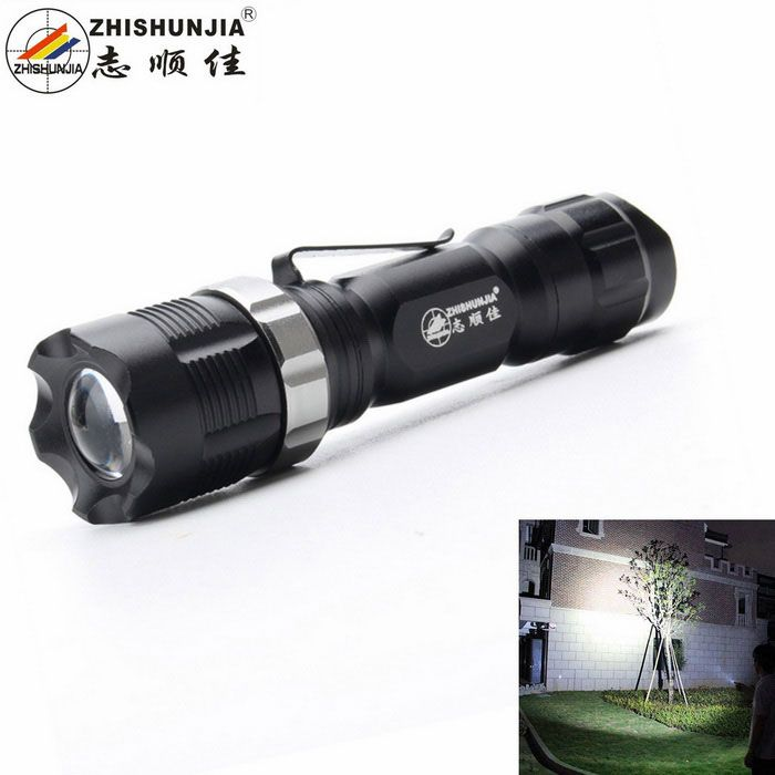 ZHISHUNJIA X109-Q5 LED XP-E Q5 400lm 3-Mode White Light Flashlight w/ Clip - Black (1 x 14500). Form Color Black Model X109-Q5 Quantity 1 Set Material Aluminum alloy Other Features Zoom-to-throw,Tactical Brand ZHISHUNJIA LED Type XP-E Emitter BIN Q5 Color BIN Neutral White Number of Emitters 1 Working Voltage 3.7 V Power Supply 1 x 14500 battery (not included) Current 1.8 A Theoretical Lumens 500 lumens Actual Lumens 400 lumens Runtime 4 Hour Number of Modes 3 Mode Arrangement Hi,Low,Fast…