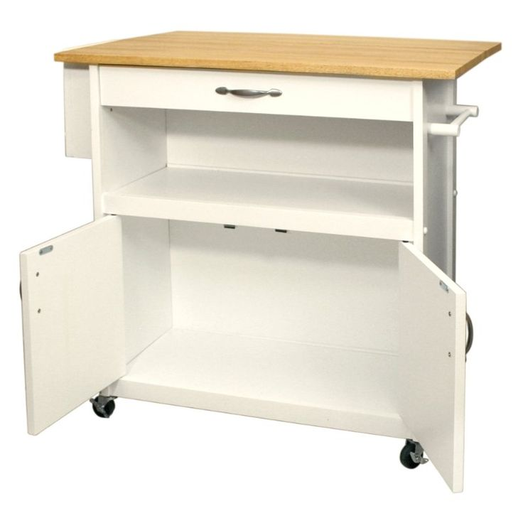 $220 - in my cart - Amazon.com - Catskill Craftsmen Drop Leaf Utility Cart - Kitchen Islands & Carts