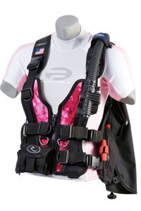 A pink BCD! Scuba diving in STYLE! :)