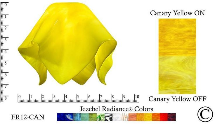 """Jezebel Radiance® Small Flame Canary Yellow Glass Pendant/Ceiling Fan Light Replacement Glass Shade, 1 5/8"""" hole"""