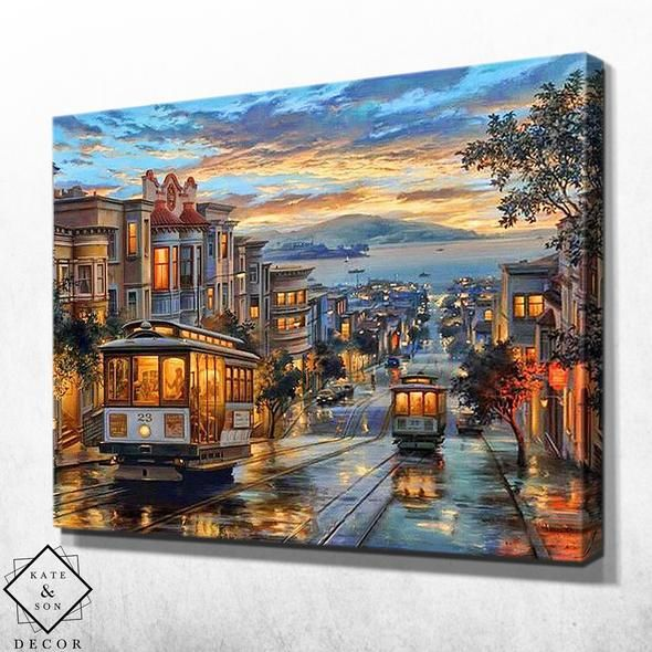 Streets Of San Francisco Kate Son Decor Modern Wall Art Canvas Wall Art Canvas Painting Wall Art Pictures