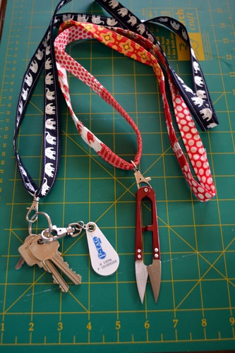 gemini stitches: Let's Get Acquainted Blog Hop - Fabric Lanyard