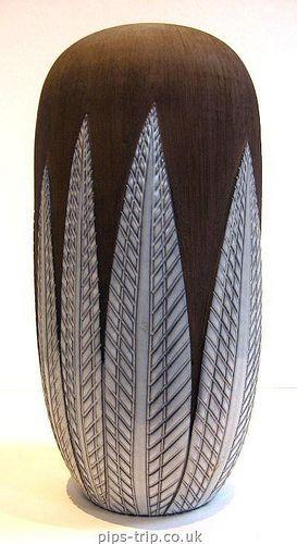 1950s Upsala Ekeby (Sweden) 'Paprika' Vase by Anna-Lisa Thomson