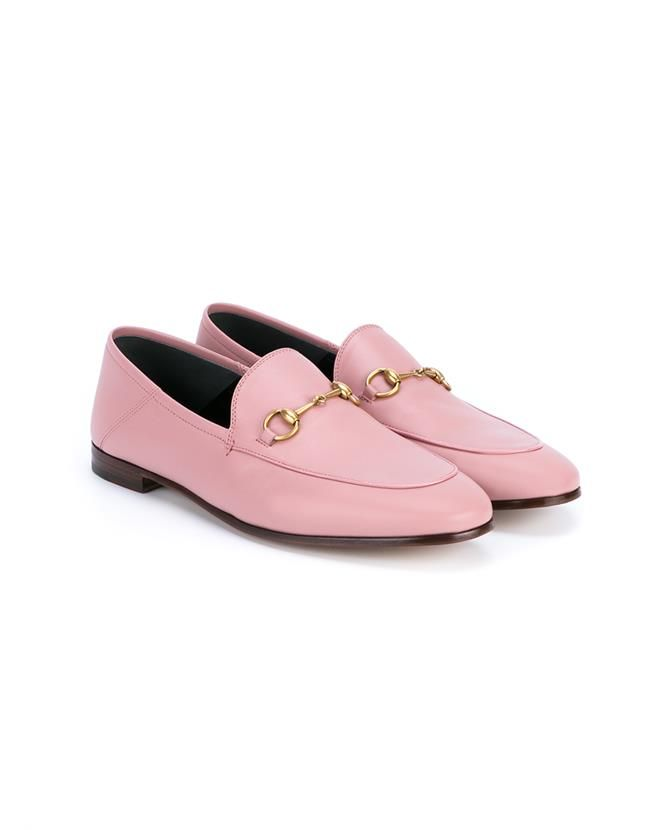 Pink Gucci loafers on the blog
