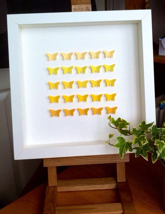 Yellow shades 3D butterflies by gosiaandhelena. Explore more products on http://gosiaandhelena.etsy.com