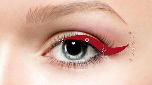 Eyeliner richtig auftragen: Mit dem Drei-Punkte-Trick gelingt der perfekte Lidstrich