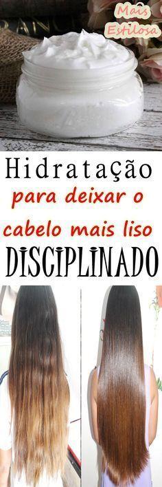 HIDRATAÇÃO CASEIRA para deixar o CABELO mais LISO e DISCIPLINADO!