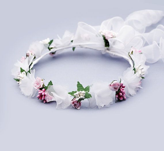 Flower crown headband Bridal flower crown by FloralHeadpiece