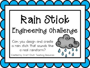 Dream Design Do: Rain Sticks: Engineering Challenge Project ~ Great STEM Activity! $