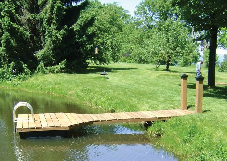 how to build a dock on a pond