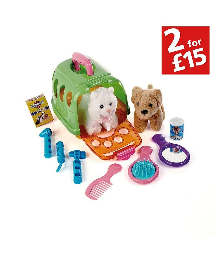 Buy Chad Valley Poorly Pet Health and Grooming Centre at Argos.co.uk - Your Online Shop for 2 for 15 pounds on Toys, Animal playsets and collectables, Toys under 10 pounds.