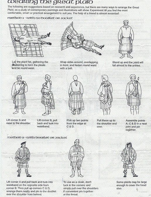 About the Feileadh Mhor// How to wear a kilt//                              …