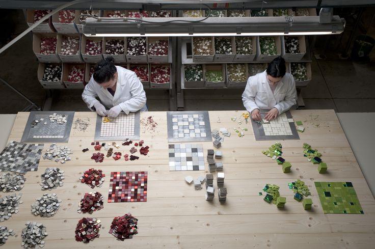 Mosaic Leather tiles by Studioart #leather Design #handmade