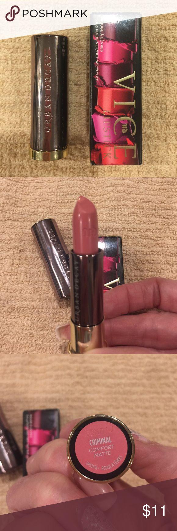 "Urban Decay Lipstick Brand new! Urban Decay (Comfort Matte) Vice Lipstick in ""Criminal"" Urban Decay Makeup Lipstick"