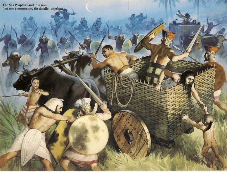 -1184 c Egyptian attack on Sea Peoples Camp