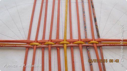 Мастер-класс Поделка изделие Плетение МК - овальное дно по-Ильфатовски Бумага…