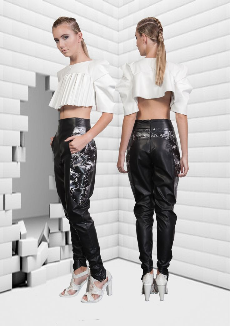 Surasit Liphan # leather Pant and Top # FDS graduate collection