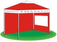 AWO Der Scheren-Pavillon. 3 x 3 m, Eloxiertes Alu-Profil mit 2 mm Wandstärke, Standbeine ca. 3 x 3 cm, wasserabweisendes PU-Dach, höhenverstellbar auf 200 cm, 210 cm oder 220 cm, sehr schneller Auf- und Abbau. 1 Stück (Preisanpassung zum 01.01.2016)