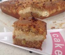 Apple  Vanilla Custard Cake