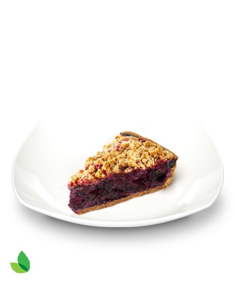 Blueberry Crumble Pie with Truvía® Baking Blend  | Crunchy, crumbly and unbelievably fruity. It starts with a graham cracker crust and a filling that's bursting with blueberries and a hint of vanilla. This version has 19% fewer calories and 41% less sugar* than the full-sugar version - a naturally sweet slice of life.