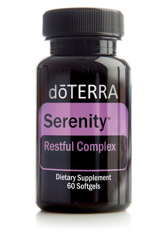 doTERRA Serenity Restful Complex is a unique combination of Lavender essential oil and natural plant extracts in a vegetarian softgel to help you get the refreshing sleep you need without leaving you