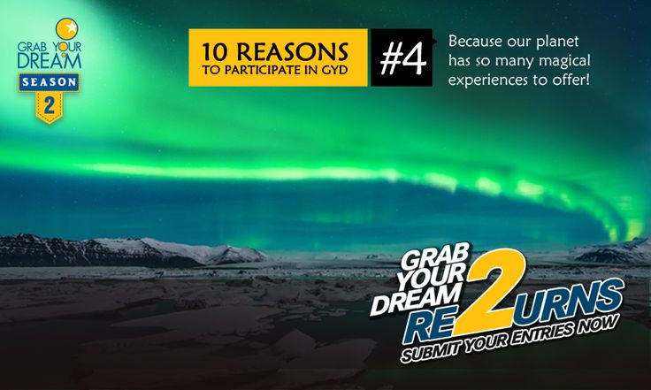 The Northern Lights & other amazing sights, await. Participate now & #GrabYourDream: http://cnk.com/participategyd2
